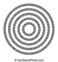 meander., ozdoba, okrągły