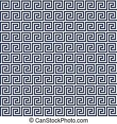 Meander style pattern - greek ornament background