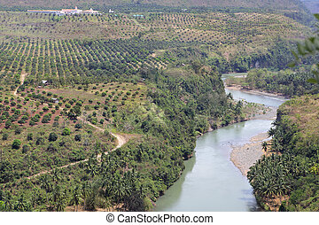 Meandering Cagayan river Philippines - The meandering...