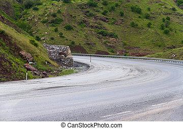 Meandering Road - Meandering road in nature.