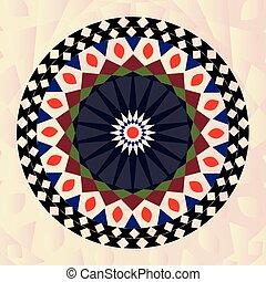 meandry, purpurowy, starożytny, okrągły, mandala, klucz, próbka, sztuka, pink., -, grek