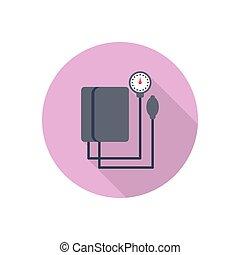 measure  flat color icon