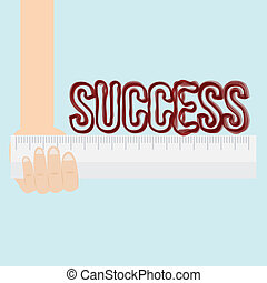 Measure of success conceptual using ruler