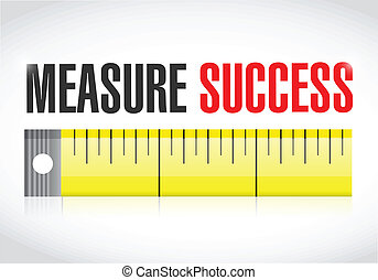 measure success illustration over a white background