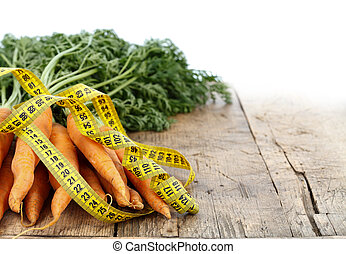 Measure tape and carrots
