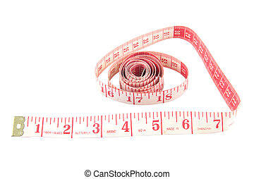 Measure tape isolated on white