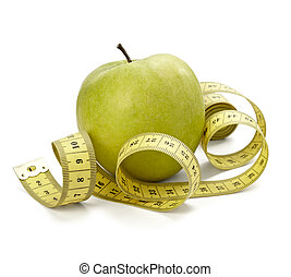 measure tape tailor diet fitness apple fruit food length...