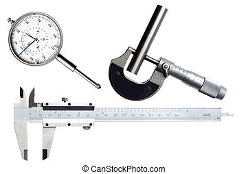 measure - three measuring instruments isolated on white ...