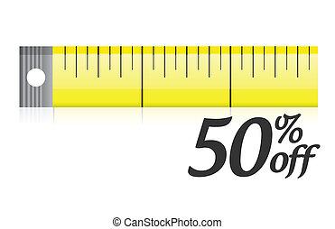 measure your discount illustration design