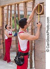 Measurement at construction site
