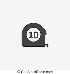 measurement icon, isolated, white background