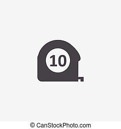 measurement icon, isolated, white background