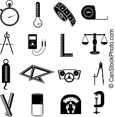 measurement icons set