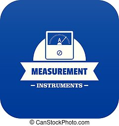 Measurement instrument icon blue vector isolated on white background