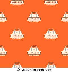 Measurement instrument pattern vector orange for any web design best