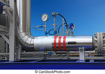 Measurement of parameters of gas in the pipe