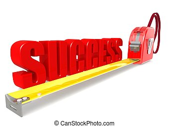 Measurement of success - Rendered artwork with white...