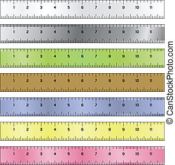 Measurement rulers vector