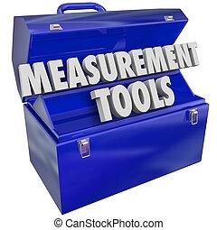 Measurement Tools Gauge Performance Level 3d Words Toolbox