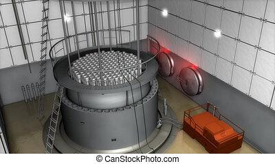 """measures."""", moderne, vue, élevé, intérieur, réacteur, fin, ..."""