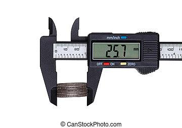 Measures with digital caliper