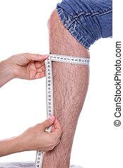 Measuring a leg