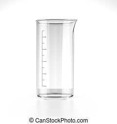 Measuring Beaker isolated on a white background