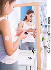 Measuring blood sugar level