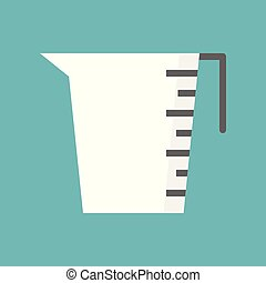 Measuring cup icon, Cooking equipment Flat design vector -...