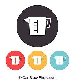 Measuring cup icon