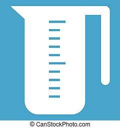Measuring cup icon white