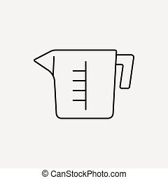 Measuring cup line icon