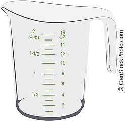 Measuring cup realistic vector illustration isolated