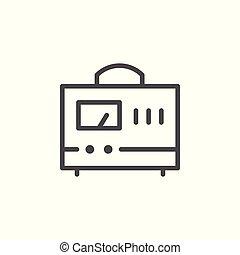Measuring device line icon