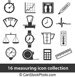 16 measuring icon collection