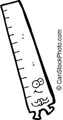measuring rule cartoon character