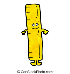 measuring ruler cartoon character