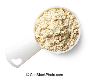 Measuring spoon of banana protein powder - Plastic measuring...