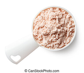 Measuring spoon of strawberry protein powder - Plastic ...