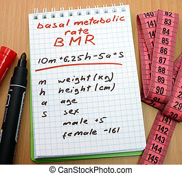bmr. Basal metabolic rate