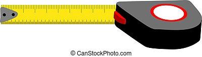 measuring tape  - Illustration of a measuring tape
