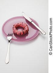 measuring tape donut