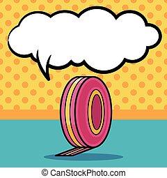 Measuring tape doodle