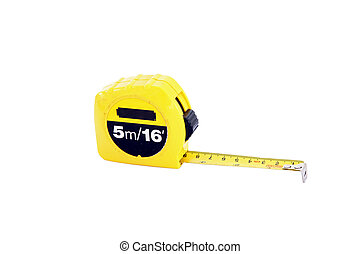 measuring tape for construction isolated on white