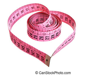 Measuring tape - heart - Measuring tape looking as heart...