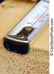 Measuring tape is the tool for carpenters