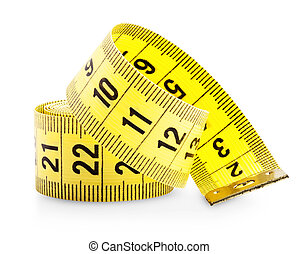 Measuring tape isolated on white background. Clipping Path