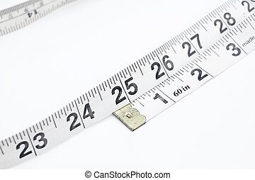 measuring tape isolated