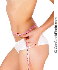 Measuring Tape On Woman Body