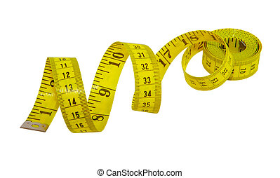 Measuring Tape - Yellow measuring tape for tailor isolated...